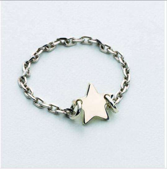 Bague étoile argent
