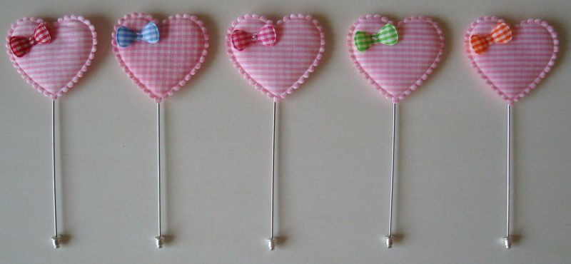 Broche pink heart
