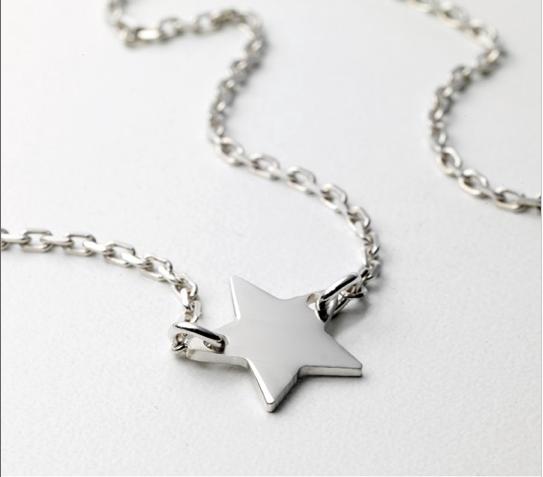 Collier étoile argent