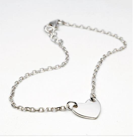 Bracelet coeur argent