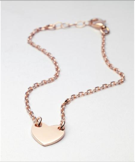 Bracelet vermeil coeur