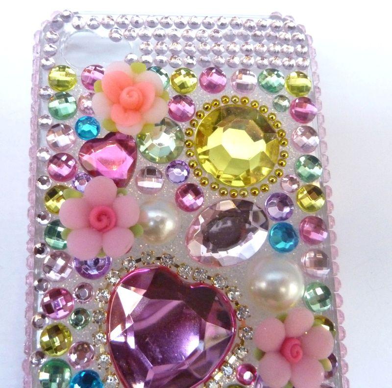 Coque iphone  multico coeur 4g 2