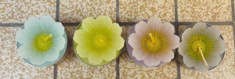 Bougies fleurs 2