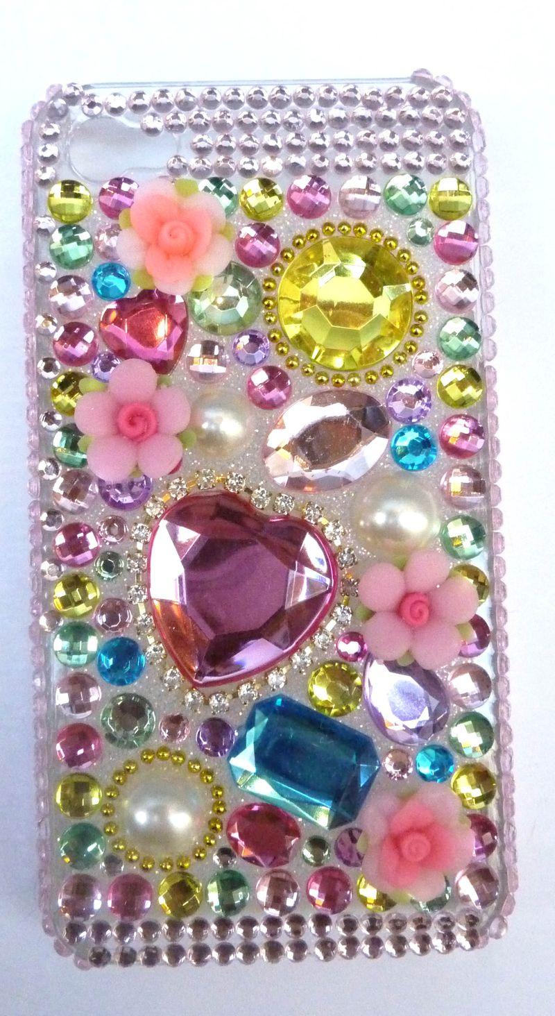 Coque iphone  multico coeur 4g 1