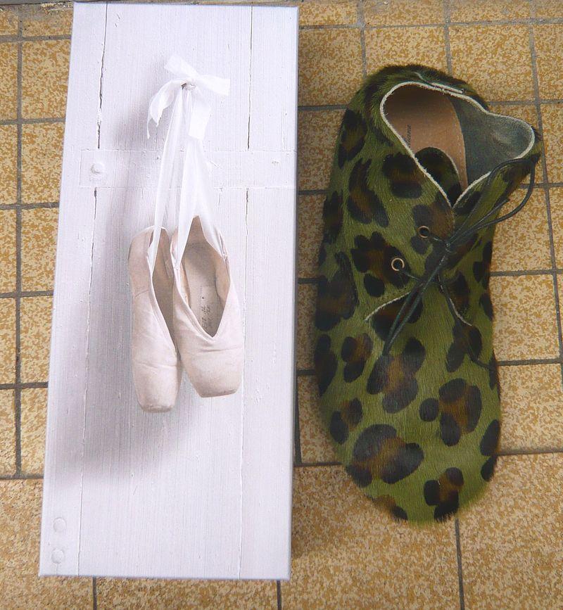 Derbys léopard kaki 1